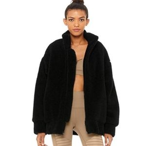 NWT Alo Yoga Norte Sherpa Coat - Black